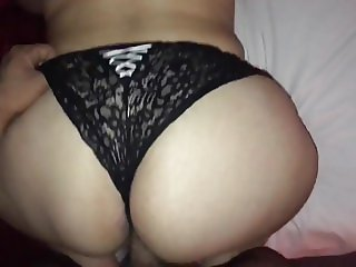 Fucking my Turkish big ass wife doggy 1