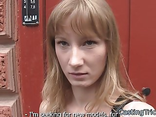 Smalltits eurobabe fucked at fake casting
