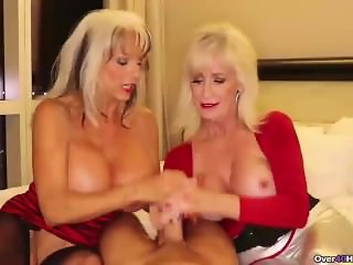 Two grannies jerking you off