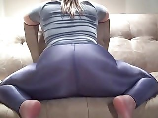 Hot Spandex Leggings Ass Tease