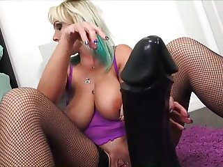 Mom Playing With Her Massive Dildo 5