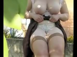 straight mature girl garden anal fisting dildo toy fetish 68