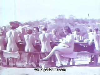 Outdoor Nudists Enjoying Naked Lifestyle (1950s Vintage)