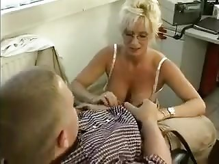 Blonde MILF Gets Her Glasses Creamed