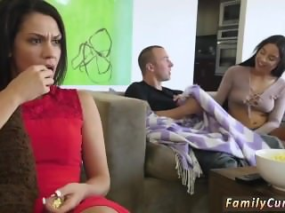 Dad catches friend's daughter fucking Mommy