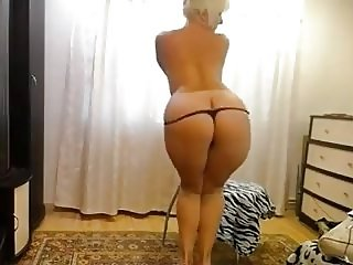 Blonde mature teasing on webcam