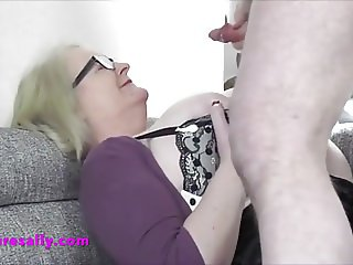 Dumping his cum on Sally