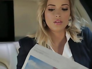 Blonde babe gets fucked in the car by WxA8AxW