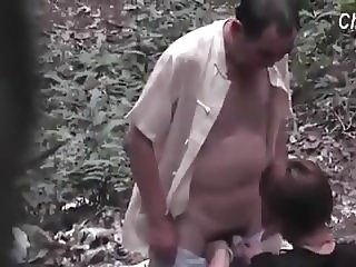 Asian Dad in the forest 1