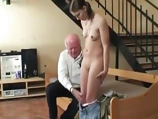 STP7 Plain Jane Gets Her First Fuck From Grandpa !