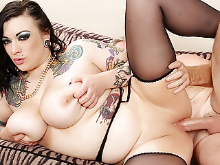Busty Tattooed Plumper Loves to Fuck
