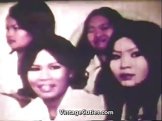 Huge Cock Fucking Asian Pussy in Bangkok (1960s Vintage)