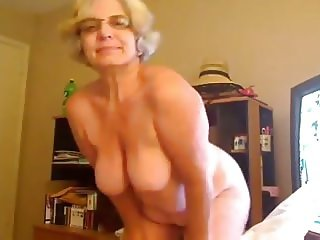 Fat webcam granny