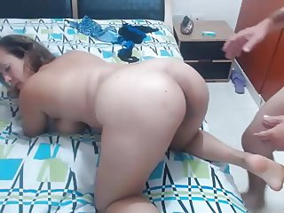 ass latin milf takes anal doggy