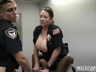 Fat black girl white guy Milf Cops