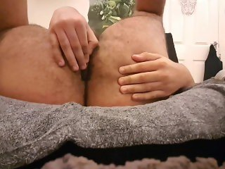 First time using butt plug with crazy orgasm!