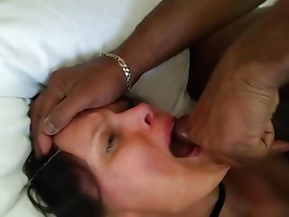 Wife Wiping Cum Into Her Mouth With Her Wedding Band Finger