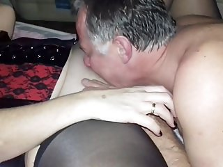 My slut wife sucking and wanking a stranger part1