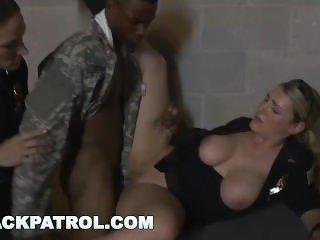 BLACKPATROL - Fake Soldier Gets Used as a Fuck Toy by Police (xb15756)