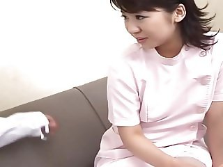 Creampie for a Shy Nurse Japanese. RM