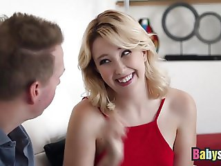 Blonde Teen Samantha Rone Banged Hard On Sofa By Lucky Dude