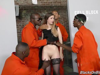 British Slut Double Fucked and Gangbanged by bbc