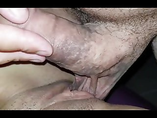 Balls inside her pussy