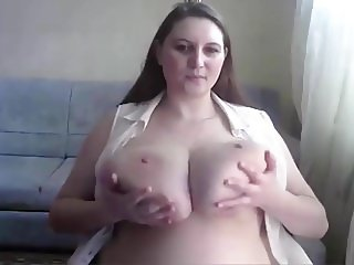 Extremely huge massive tits on webcam girl
