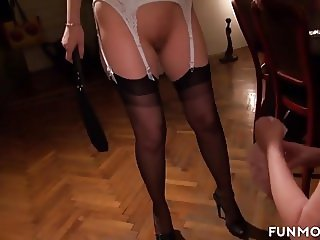 Skinny German Mistress Pleasures Grandpa