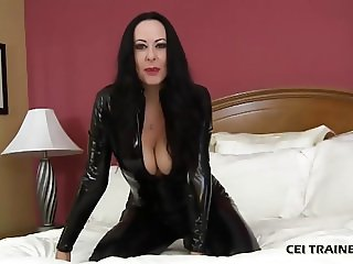 I am cruel mistress who will make you eat your cum CEI