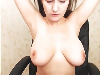 Super Sexy Long Haired Polish Hairplay and Striptease