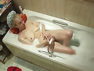 Mother hidden cam bath masturbation