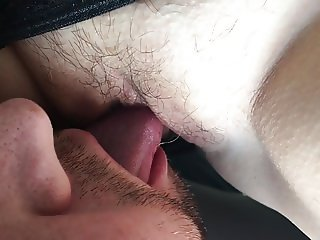 Pussy Licking in Backseat