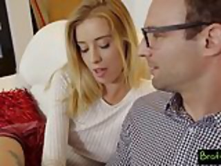 Bratty Sis - Pervy Dad Fucks Daughter While Mom Is Near! S3: