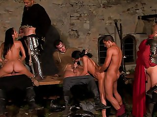 A Full Fledged Roman Orgy With Anal And Swallowing.