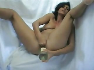 Amateur - Mature Bottle in Arse Piss in Glass & Drinks it