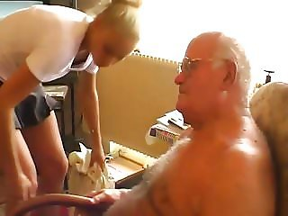 Grandpa Andre sucked and fucked by Tessa