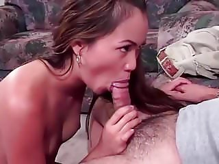 Asian Slut Sucks Daddy For Car Keys