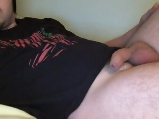 Getting my Soft Uncut Dick Hard and Emptying my Big Balls with a JOI!
