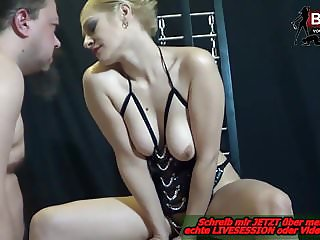Deutsch - REAL CUMSHOT MANUAL - Blonde domina session