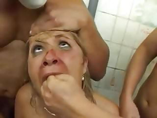 Bathroom - Brutal GangBang