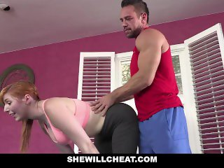 SheWillCheat - Hot Curvy Gunger WIfe Fucking Personal Trainer