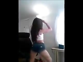 latin girl ass dancing