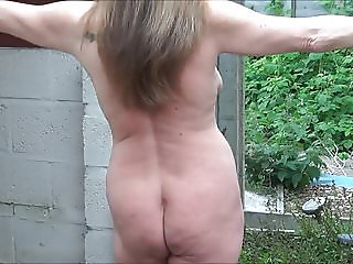 Full Back Knicker's Naked in the Garden