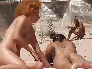 Beach girls voyeur naked