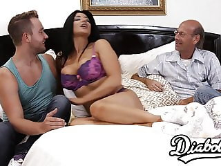 Amazing MILF Romi Rain makes her rich hubby a cuckold
