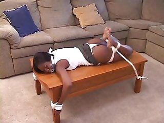 Ebony tied up and humiliated