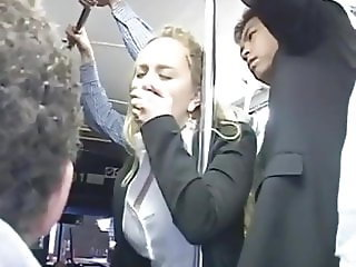 Horny Milf Touched To Multiple Orgasm On Bus Pt1