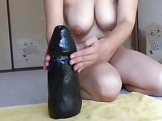 Elmer wife vs big black dildo ride