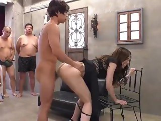 KV-184 Pretty Rio Kirishima's little pussy got massive cums by 16 guys